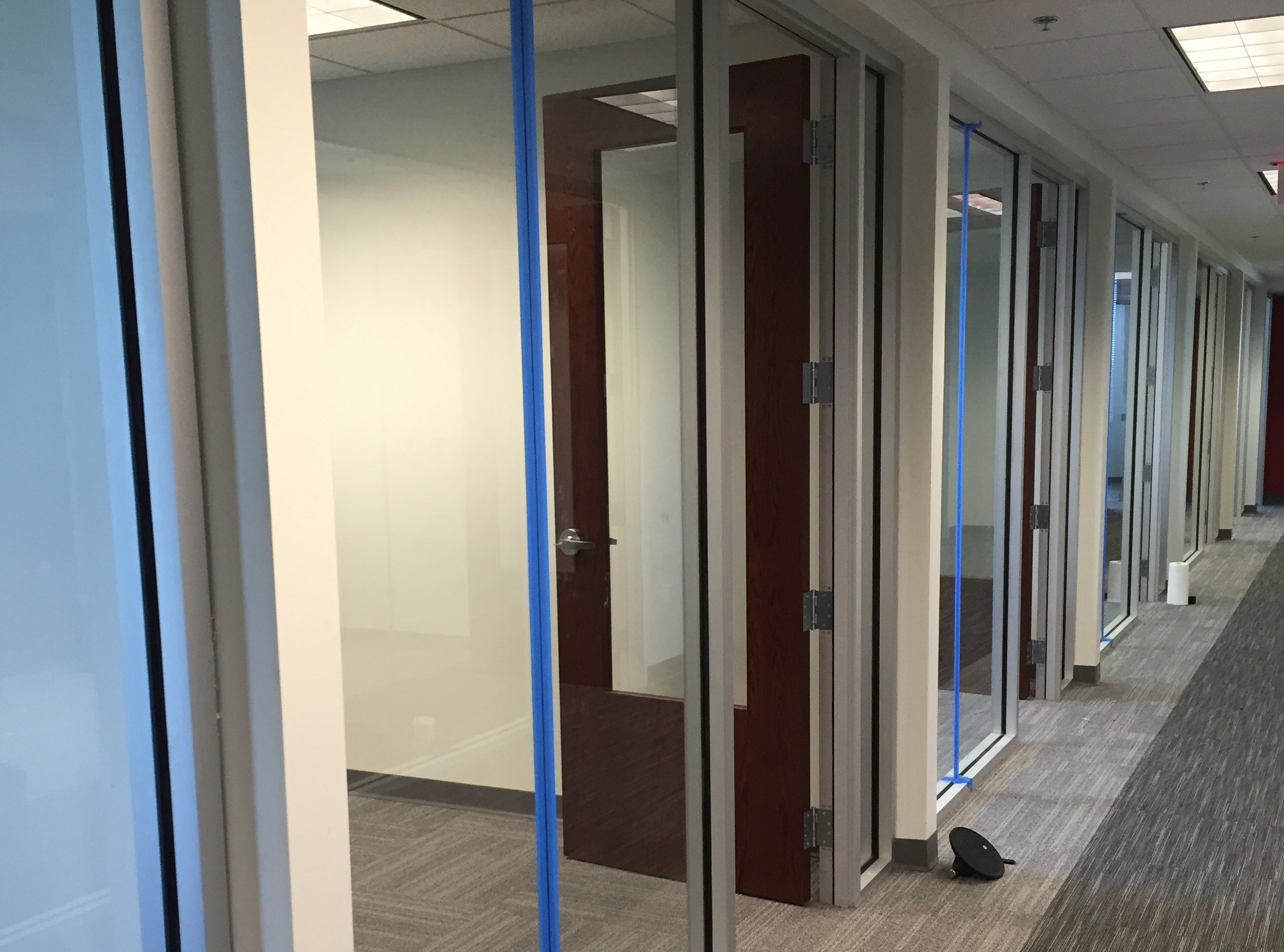 commercial office glass work