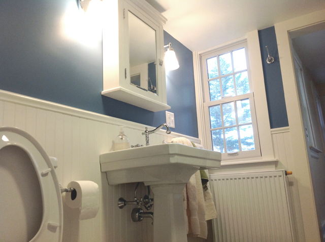 bathroom sink and vanity installation